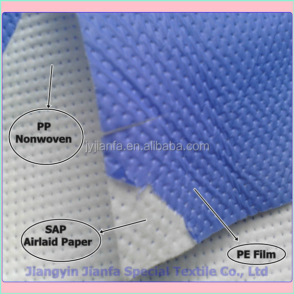 absorbent fabric nonwoven fabric made of super absorbent fiber