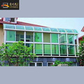 Curved aluminum frame and double glass garden glass house
