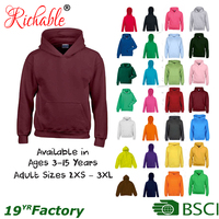 BSCI 2016 Wholesale Custom Fleece Cotton Basic Plain Dyed Men Printing Pullover Hoodies With Hood