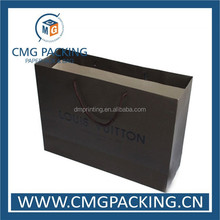 Printed paper gift packing bag with black logo