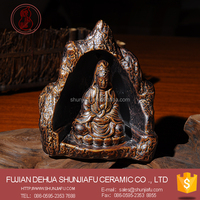 Ceramic kwan-yin Decor Backflow Incense Burner Incense Holder For Home Or Temple Decor