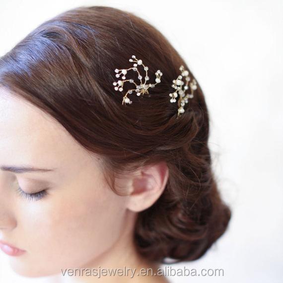 Luxurious Baroque Style Pearl Jewelry Hair pins Handmade Retro Women Hair Sticks Wedding Bridal Hair Accessories