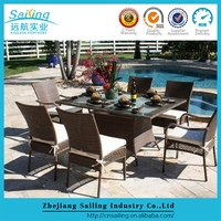 Sailing Weatherproof Resin Wicker Used Hotel Steel Mesh Patio Furniture