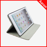 Retro Stamp Overpass Pattern Leather Foldable Smart Cover Slim Folio Case for iPad Mini/mini2