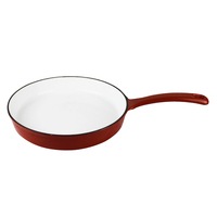 TRIONFO 25cm lightening Red Hot sale Cast Iron Enameled frying pan