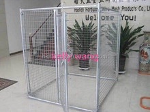 welded mesh or chain link mesh type large outdoor dog run kennel factory