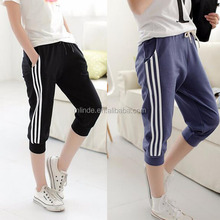 Summer 2017 Women Casual Sports Pants Running Casual Loose Harem Pants Femme Skinny Sport Pants Seven Short Capris Trousers