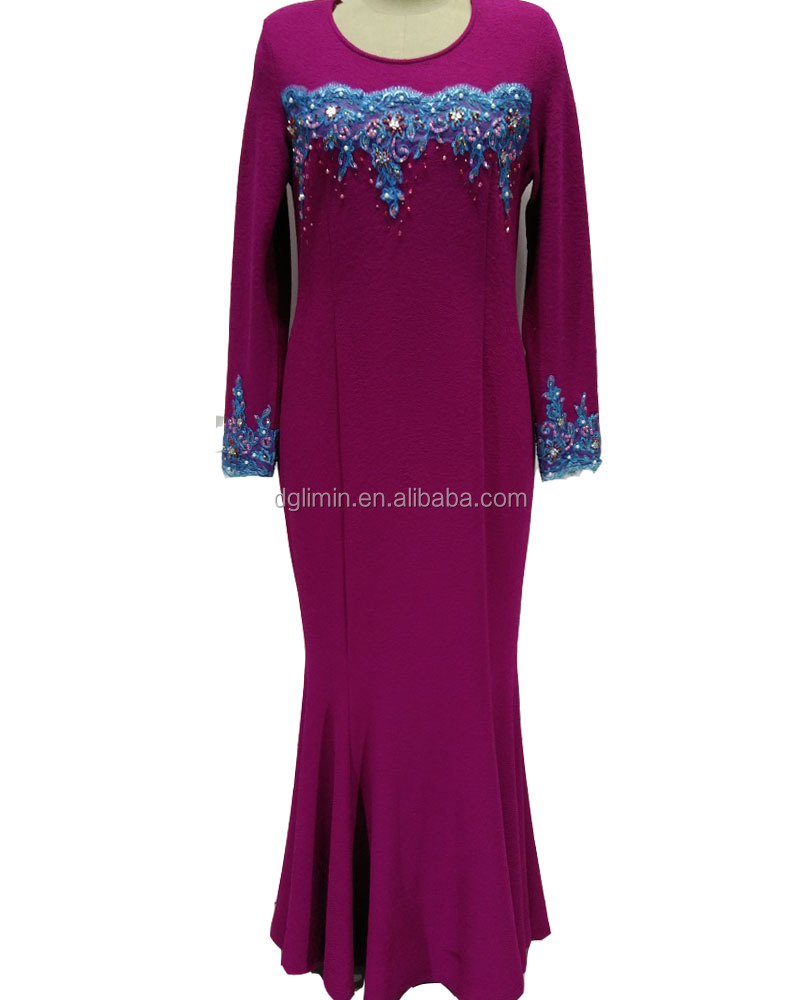 Women Slim Skirted Dress Coat Baju Kurung Indonesia Abaya Whaolesale