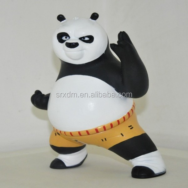 High quality Kungfu Panda custom classic money box;Professional coin bank toy manufacturer;custom soft pvc coin bank