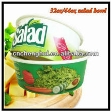 Popular Custom Logo Popular Take Away Disposable Paper Container for Salad with Lids
