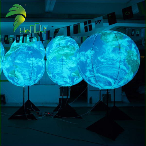 Lighting Air Planet Earth Balloons / Inflatable Globe Ball / Led Custom Inflatable Stand Balloon