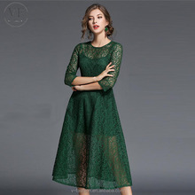 Alibaba 11/11 Chic Stylish Royal Green Evening Dress 2017 Prom lace Dresses Custom Made