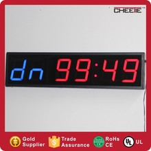 Super 6 Digit Fitness Training Pictures Wall Mount LED Digital Gym Clock