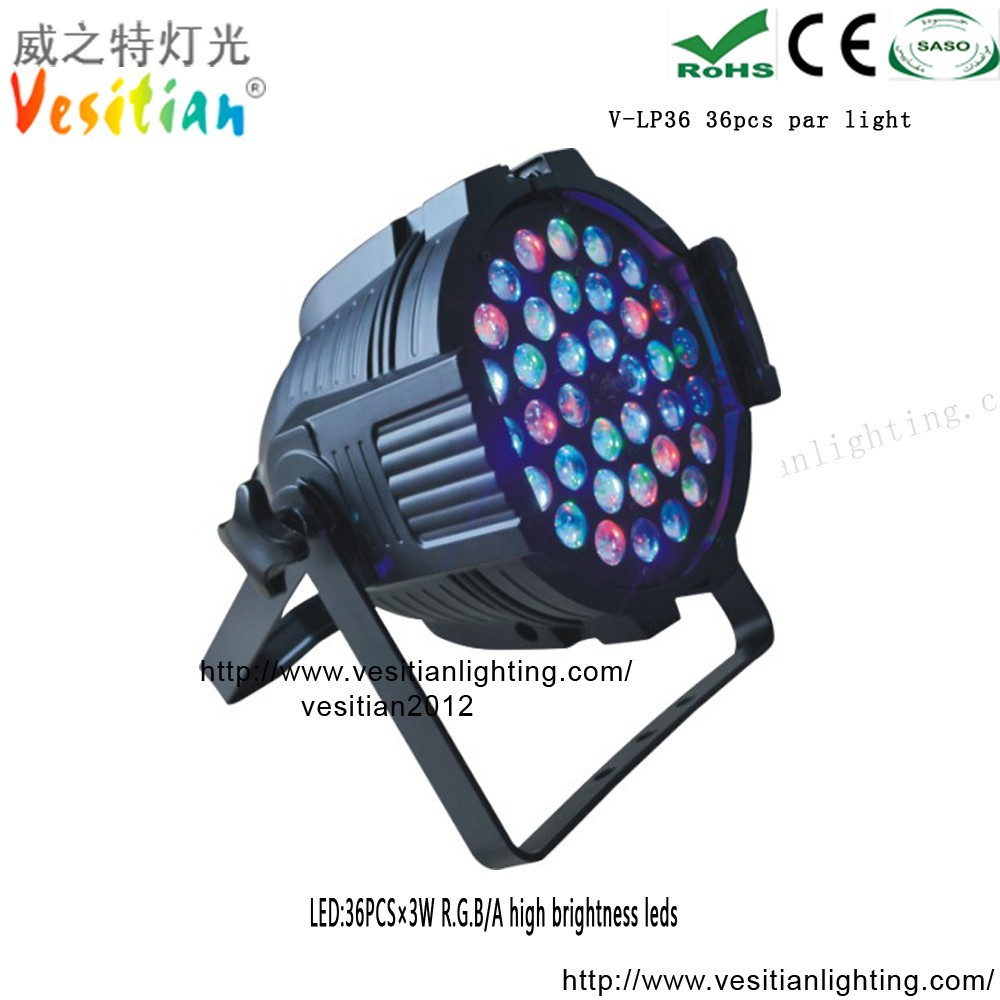 max fashion china shop rgbw color led par 64 rgb dmx stage lighting par led 36*3w rgb