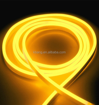 amber color led neon light small size golden yellow ac220v one side emitting
