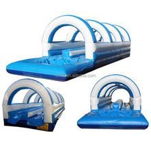 Commercial Double Lane Ocean Slip And Slide/ inflatable water slide for sale