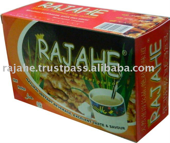Rajahe Natural Boxes Excelent Hot Spicy Taste Instant Ginger Drink