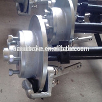 Round Straight Axle assembly for boat trailer complete with Disc Brake