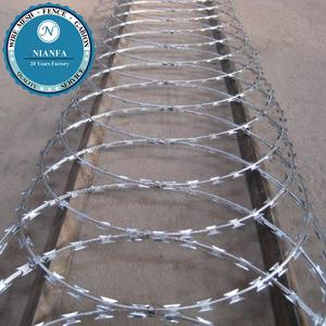 Guangzhou stock 50/70cm razor blade/barbed wire/barbed wire roll price fence(Guangzhou Factory)