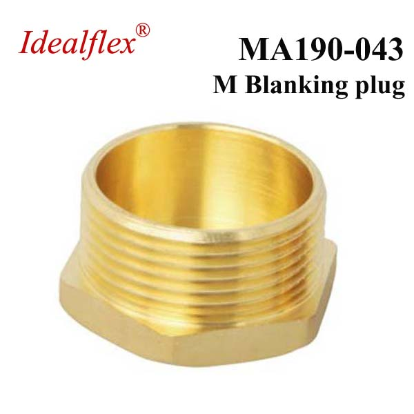 Idealflex Brass Compression blanking plug end, fitting cap for plumbing