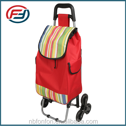 foldable supermarket trolley shopping bag