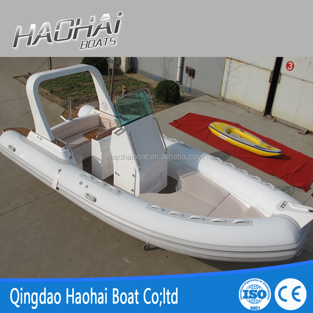 Luxury 6.8m rigid inflatable boats