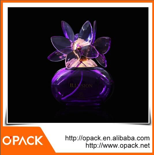 Free sample cosmetic packaging custom empty glass perfume bottle with different size&color