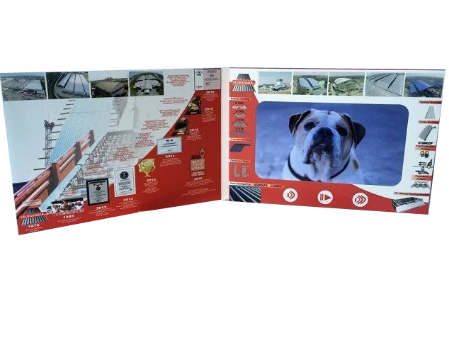 LCD Greeting card video business card video book for ads