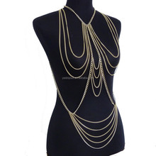 gold chain body jewelry woman summer body jewelllery