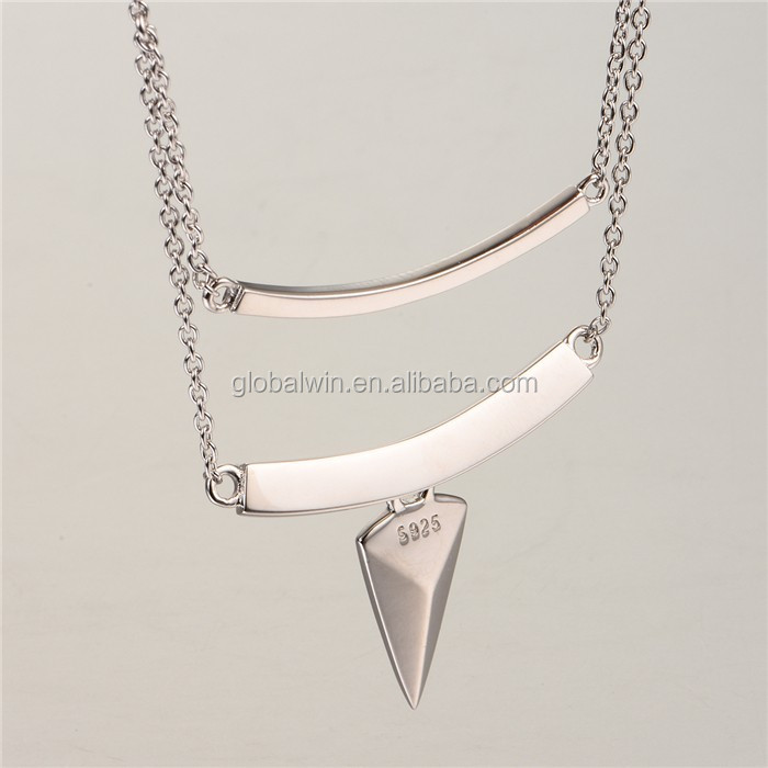 New Arrival 925 Silver Long Chain Necklace Diamond Necklace Hawaii Necklace
