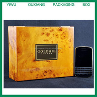 burl wood design hot sale blackberry phone box for uk market