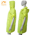 OEM factory Top quality Fashionable cheap durable clear polyester long hooded lady raincoats