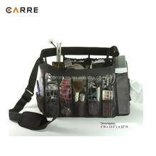 professional clear PVC make up artist tool makeup set bag with mesh pockets