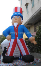 Giant inflatable uncle sam for advertising