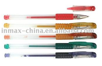 Plastic Gel Pen with highlight color ink