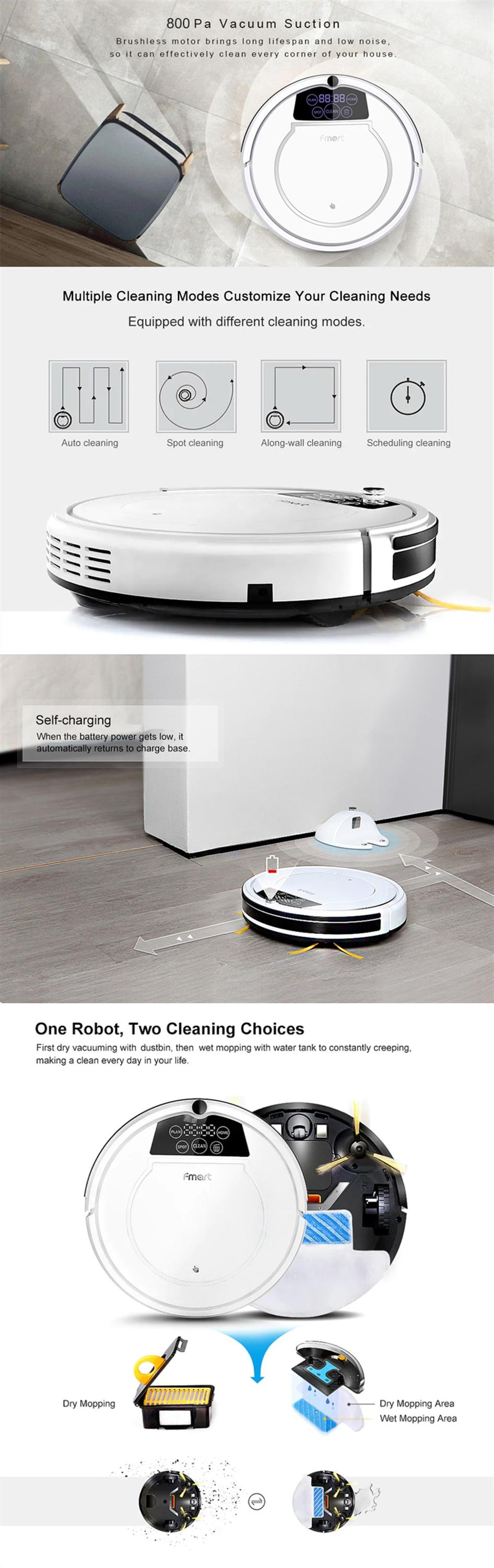 CE Certification Mini Automatic Robot Vaccum Floor Cleaner With Sweep vaccum