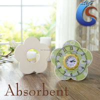 Flower shape ceramic clock