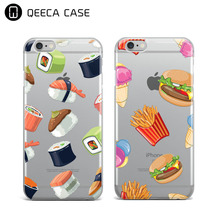 Sushi Clear Phone Case For iPhone 7 / 7 Plus Soft TPU Clear Case Custom Made