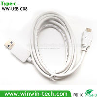 USB 3.1 Type C Connector type a to type c curl cord high definition cable