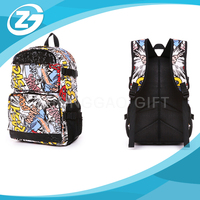 Custom Printed Fashionable Brand Basic model Outdoor Sports Hiking Backpack Travel School Bag
