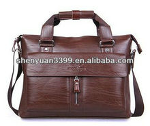 classical trendy business style genuine leather handbag 2012