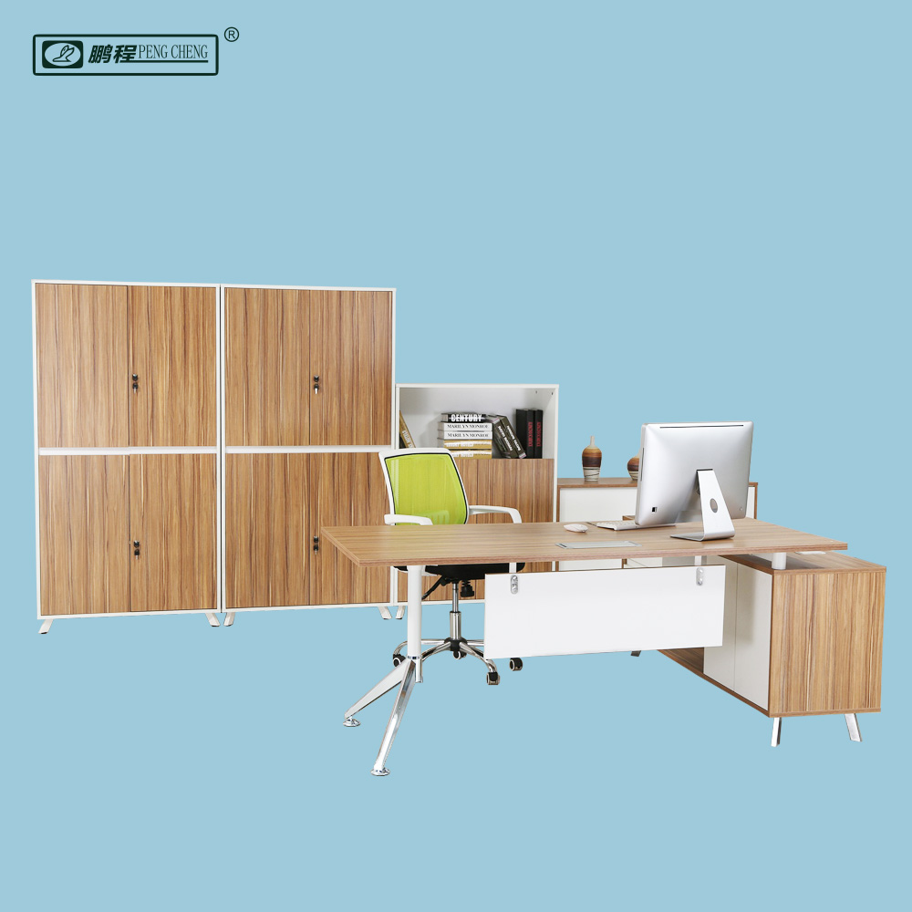 Modern Office <strong>Table</strong> Design Executive Desk with Side <strong>Table</strong>