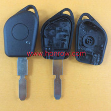 Good quality Peugeot 1 button remote key blank with 406 blade without logo for peugeot car key