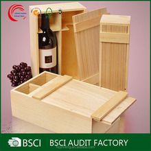 China wholesale custom wooden gift boxes for wine glasses