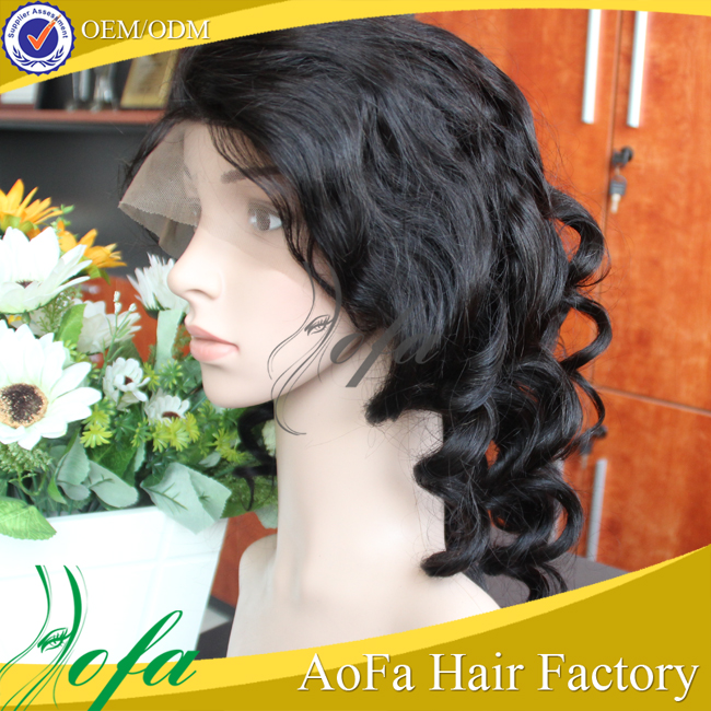 AoFa Overnight Delivery Bohemian Remy Human Hair Full Lace Wigs