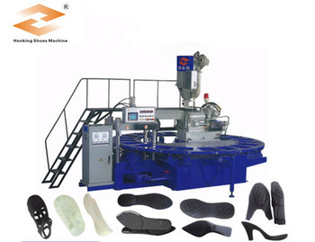 Rotary one color outsoles foaming PVC shoes machine