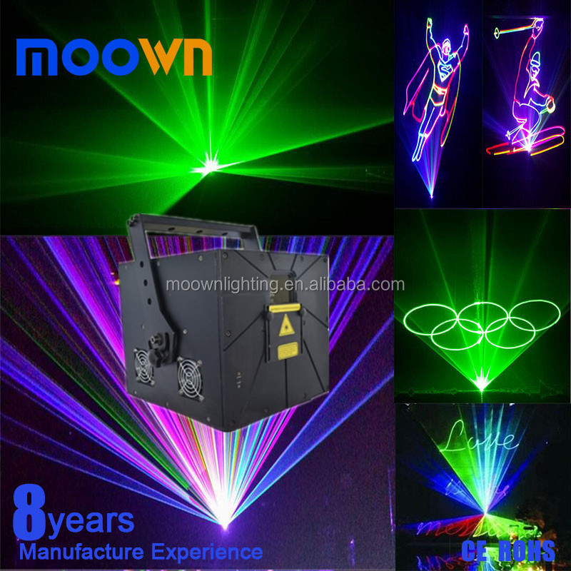 Programmable show system DMX 3w rgb full color carton laser sky light