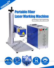 Portable 10w 20w 30w optic fiber laser marking machine for stainless steel (pipes, bottles, plates, utensils..)