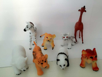 8 Design PVC Zoo Animal Set Toy