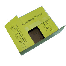 Cheap and green corrugated kraft paper box for apple packing